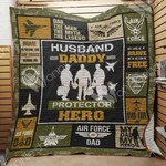 Air Force Dad Quilt Blanket DHC1102362TD