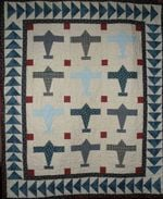 Airplane CLA0910009Q Quilt Blanket #94227