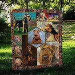 Airedale Terrier Playful CL09100009MDQ Quilt Blanket