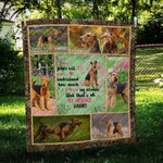 Airedale Terrier Heart Knows CL09100008MDQ Quilt Blanket