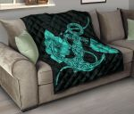 Anchor Turquoise Poly Tribal Premium Quilt J14 DHC221110103DD