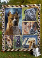 American Staffordshire Terrier Brave Boys Quilt Blanket Dhc04011821Dd