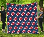 American Football Rugby Ball CL12100017MDQ Quilt Blanket
