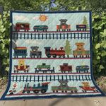 Airedale Dog In Train BT040604 Quilt Blanket