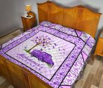 Alzheimer's Awareness pattern Quilt DHC281111270DD