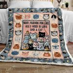All I Need Is Love And A Cat CLT170702 Quilt Blanket #53111