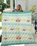 Adorable Sleepy Sloth Faces Quilt Blanket DHC1402779TD