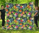 Aloha Hawaii Tropical CL17100021MDQ Quilt Blanket #26304