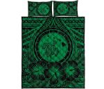 Alohawaii Bedding Set Hawaii Map Honu Hibiscus Green Polynesian Quilt Bed Set Ah Jg1 Dhc1712635Dd