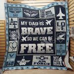 Air Force Dad Quilt Blanket DHC1102429TD