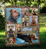 Airedale Terrier Cute CL10100005MDQ Quilt Blanket