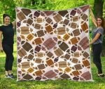 American Football Rugby Ball CL12100016MDQ Quilt Blanket #73358