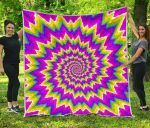 Abstract Spiral Moving Optical Illusion CL17100015MDQ Quilt Blanket
