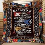 All I Need Is This Guitar CLD290601 Quilt Blanket