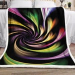 Abstract Colorful NP2810002F Sherpa Fleece Blanket