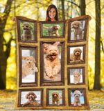 3d Toy Poodle CLH1712015F Sherpa Fleece Blanket