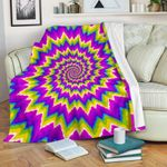 Abstract Spiral CLH0111015F Sherpa Fleece Blanket