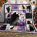 A Little Black Cat Goes With Everything CL15110001MDF Sherpa Fleece Blanket