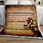 A Country Girl Like You and Me Fleece Blanket DHC14111321VT