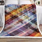 Abstract Colorful DN2210001F Sherpa Fleece Blanket