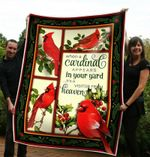 A Visitor From Heaven Cardinal CL11100003MDF Sherpa Fleece Blanket #47105