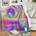 Abstract Holographic Trippy CL06120010MDF Sherpa Fleece Blanket