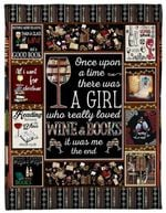 A Girl Loves Wine And Books CLM2312018S Sherpa Fleece Blanket