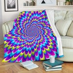 Abstract Dizzy Moving Optical Illusion CL16100005MDF Sherpa Fleece Blanket