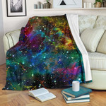 Abstract Colorful Galaxy Space CL16100002MDF Sherpa Fleece Blanket