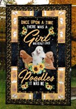 A Girl Loved Poodles CLM02120013S Sherpa Fleece Blanket