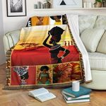 African Culture CL11120038MDF Sherpa Fleece Blanket
