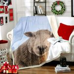 3d Sheep HM2611001TT Sherpa Fleece Blanket