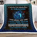 5 Signs Im Probably A Dragon NT1101448S Sherpa Fleece Blanket
