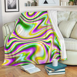 Abstract Holographic Liquid Trippy CLH0111007F Sherpa Fleece Blanket