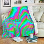 Abstract Psychedelic Trippy CL16100013MDF Sherpa Fleece Blanket