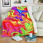 Abstract Colorful Liquid Trippy CLH0111003F Sherpa Fleece Blanket