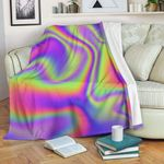 Abstract Holographic Trippy CL16100008MDF Sherpa Fleece Blanket