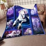 3D Unicorn CLA21100659F Sherpa Fleece Blanket