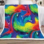 Abstract NP0901012S Sherpa Fleece Blanket