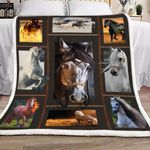 3d Huge Horse HD1301504S Sherpa Fleece Blanket