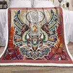 Abstract Owl Dream Catcher MMC2710860 Fleece Blanket