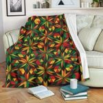 Abstract Geometric Reggae CL06120008MDF Sherpa Fleece Blanket