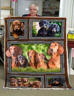 A Pack Of Dachshunds CLG1401003S Sherpa Fleece Blanket
