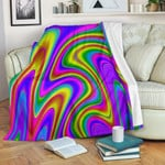 Abstract Neon Trippy CLH0111011F Sherpa Fleece Blanket