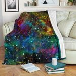 Abstract Colorful Galaxy Space CLH0111002F Sherpa Fleece Blanket