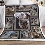 3d Huge Koala VT1601004S Sherpa Fleece Blanket