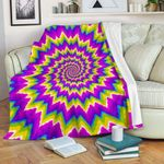 Abstract Spiral Moving Optical Illusion CL16100015MDF Sherpa Fleece Blanket #62522