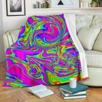 Abstract Psychedelic Liquid Trippy CLH0111012F Sherpa Fleece Blanket