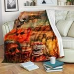 African Culture CL11120010MDF Sherpa Fleece Blanket