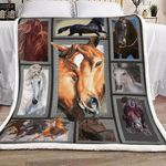 3d Huge Horse HD1301502S Sherpa Fleece Blanket